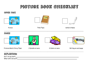 Student Reflection Picture Book Checklist