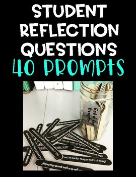 Student Reflection Popsicle Sticks - End of Day Prompts