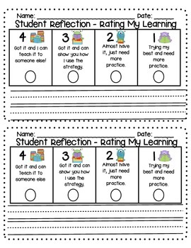 Student Reflection Rubric