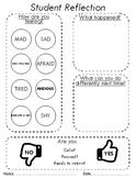 Student Reflection Sheet *Editable* - School Counselor / IEP / SST