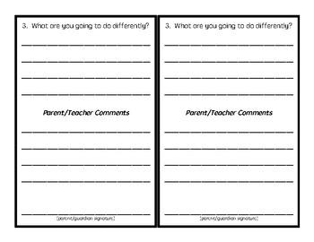 Student Reflection Sheet (for behavior)