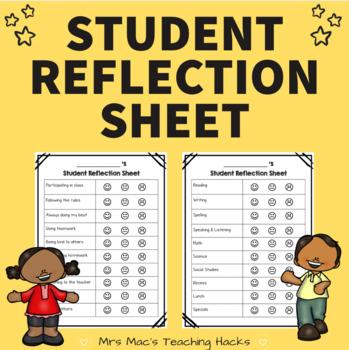 Student Reflection Sheets
