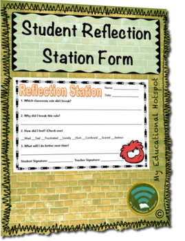 Student Reflection Station Form Template