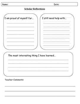 Student Reflection/Assessment