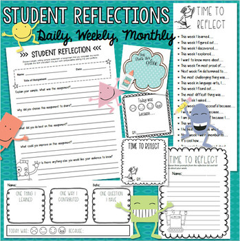 Student Reflections & Exit Tickets - Daily, Weekly & Monthly