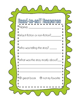 Student Reflections and scales for reading