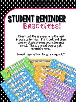 Student Reminder Bracelets