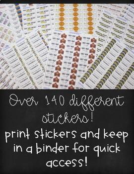 Student Reminder Stickers