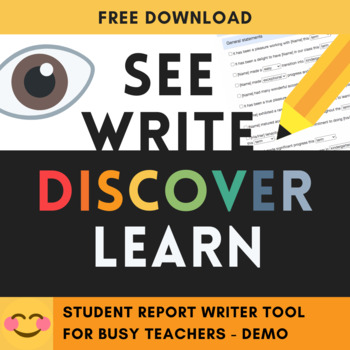Student Report Writer (basic) - Report writing made easy!