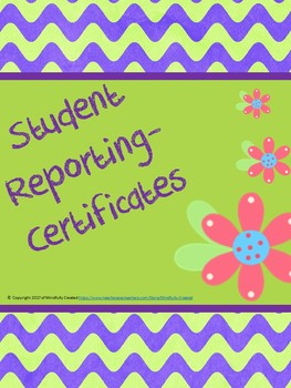 Student Reporting Certficates