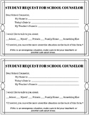 Student Request to See School Counselor Form (Grades 3-8)