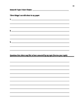 Student Research Paper Guide/Workbook