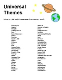 Student Resource - Universal Themes