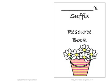Student Resource book for Suffixes