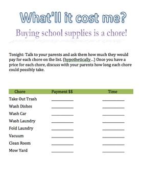 Student Respect for Classroom Supplies Activities