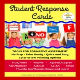 Formative Assessment - Student Response Cards