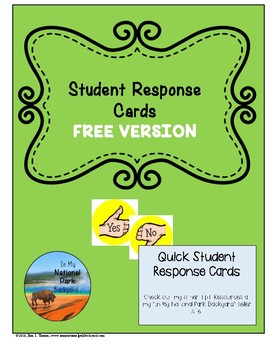 Student Response Cards--FREE