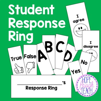 Student Response Cards (Ring)
