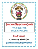 Student Response Cards to Check for Understanding
