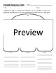Student Response Sheet Pack Video/Media/Books Etc 10 Different Sheets PDF/Word