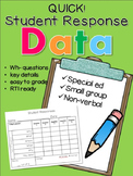 WH Questions Easy Data Form!