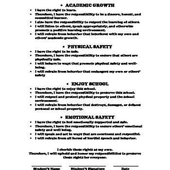 Student Responsibilities Contract