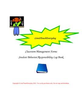 Student Responsibility/Behavior Log Book Set with Binder Cover