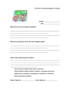 Student Responsibilty Form