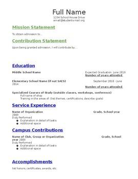 Student Resume