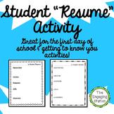 "Student ""Resume"" Activity"