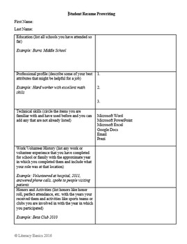 Student Resumes