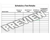 Student Retake Sign Up Sheet