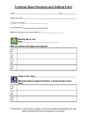 Student Revise and Edit Form: Fictional Story