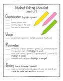 Student Revising & Editing Checklist