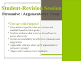 Student-Revision Session for Argumentative / Persuasive Essays