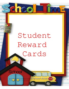 Student Reward Cards