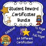 Student Reward Certificates Bundle (Editable)