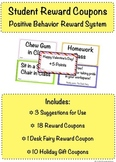 Student Reward Coupons for Positive Behavior