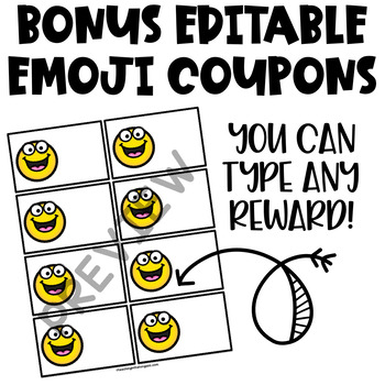 Reward Coupons | Classroom Reward Coupons