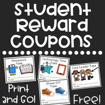 Free Student Reward Coupons - FREE Rewards