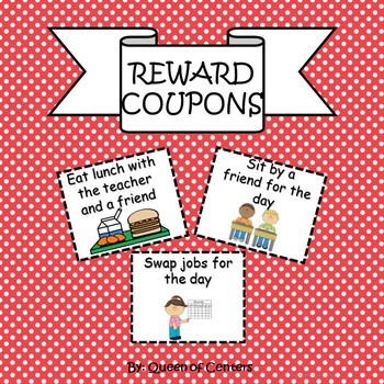 FREE Student Reward Coupons- Just Print & Use (NO PREP)