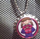 10 pack Student Reward Key Chains: Super Girl!  Dangler for Lunchbox or Backpack