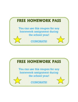 Student Reward Passes