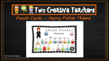 Student Reward Punch Card: Harry Pottetr Theme