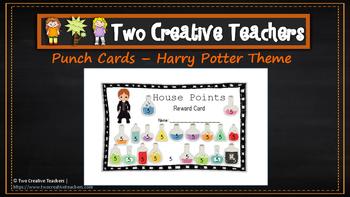 Student Reward Punch Card: Harry Pottetr Theme