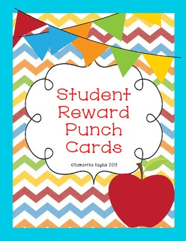 Student Reward Punch Cards