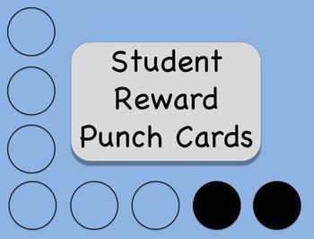 Student Reward Punch Cards (Behavior Management)