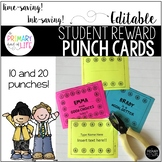 Punch Cards Student Rewards - EDITABLE