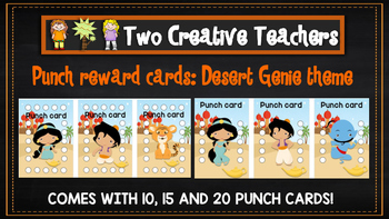 Student Reward Punch card: Desert Genie theme