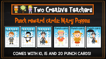 Student Reward Punch card: Mary Poppins theme